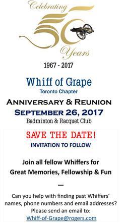Toronto Whiff of Grape 50th Anniversary